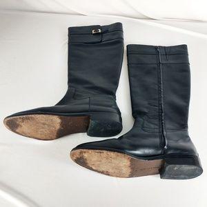 Banana Republic Black Leather Riding Boots